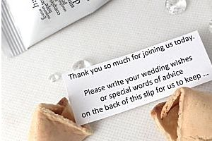 wedding wishes wedding fortune cookies